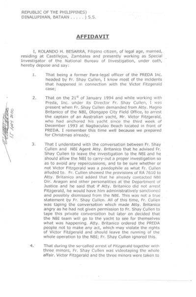 20000501 Affidavit of Rolando M. Basarra page 1