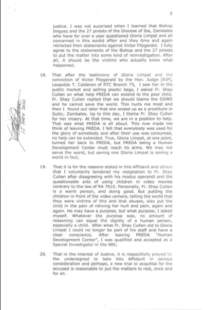 20000501 Affidavit of Rolando M. Basarra page 5